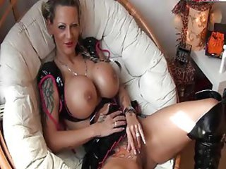 Big Tits German Masturbating Silicone Tits Tattoo