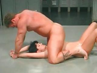 Sexy Girl Wrestling Together with Getting Fucked By Stud