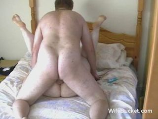 Fat couple homemade fuck