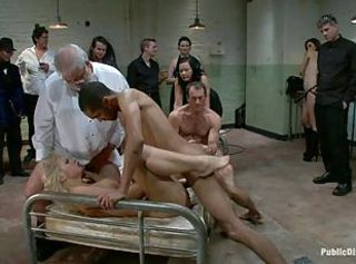 Shackled bondaged slave dungeon brutal sex