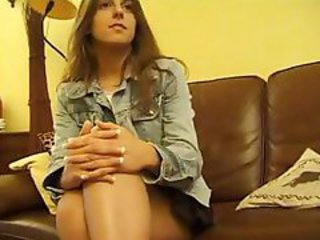 Brunette French teen is in a hot threesome with two older individuals