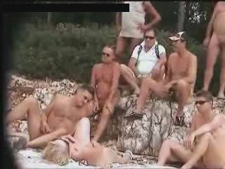 Public nudity. Simmering slut masturbates in front be proper of strangers