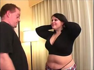 Brunette Chubby Teen Threesome
