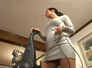 Mom in a sweater dress and boots is fucked