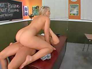 Off colour student Alexis Texas throats with an increment of fucks their way teacher