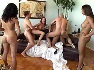 An orgy including hot trannies