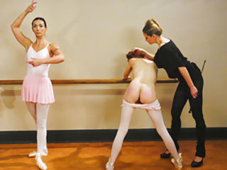 A very strict ballet lesson with lots of ass spanking