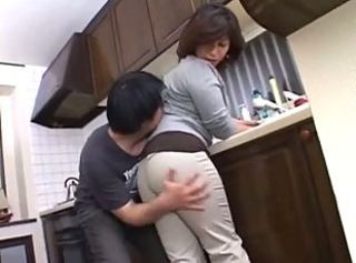 Kitchen Mature Asian Mom