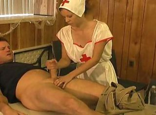 Sperm bank nurse helps donor be fitting of more cum
