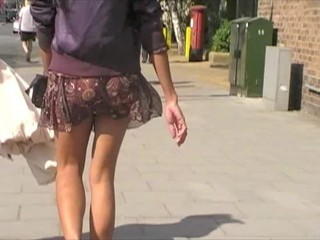 asians walking no pants in city