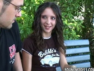 Brunette Deepthroat Goth Outdoor Teen