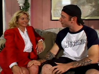 chubby milf fucks with...