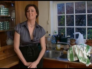 British Brunette Kitchen Mature