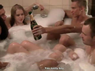 Corporate orchestrate orgy in a sauna 3