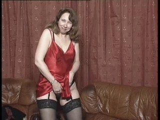 British slut Fran plays with...