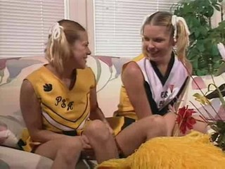 Cheerleader Pigtail Threesome
