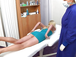 Blonde Doctor Legs Massage Pornstar