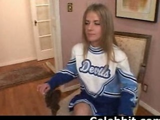 Blonde Casting Cheerleader Cute