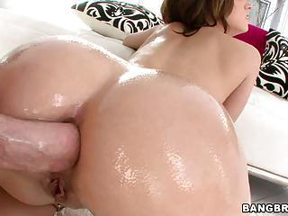 Jada Stevens Anal Scene Up Her Oiled Ass Hole
