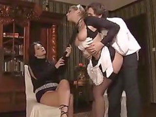 The maid is in a threesome