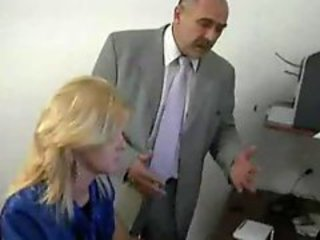 Older guy pounds a dear young blonde