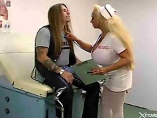 Big Tits Blonde Nurse Stockings Tattoo