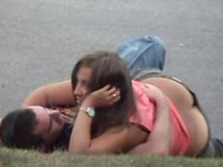 Girl fucked in public at margin