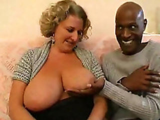 Busty Cougar group interracial pipedream