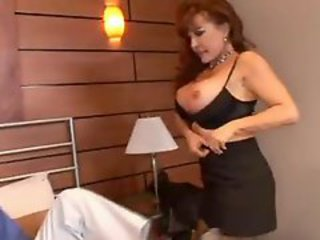 Cougar Stockings Gets Analed