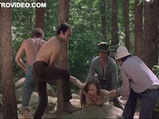 Four Horny Lumberjacks Self-abuse Camille Keaton Outdoors Back The Forest