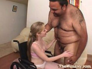 Teen hottie haley scott serving mini locate from fat daddy
