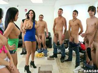 Abella Anderson & her pals tease these pricks