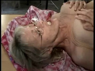 Granny doubles her pleasure
