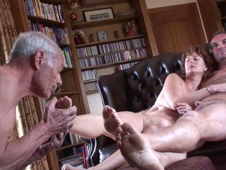 Cuckold lick both pf our feet...
