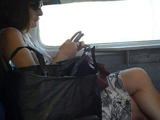 Spy Sexy Mature on the train...
