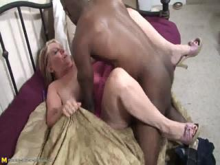 Chunky mama fucking a well hung...