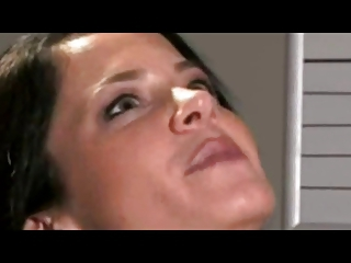 Submissive Handcuffed Slut Gags Chokes Rims And Swallows