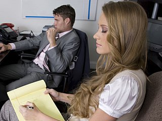 Long Haired Blondie Reduce to nothing Her Boss