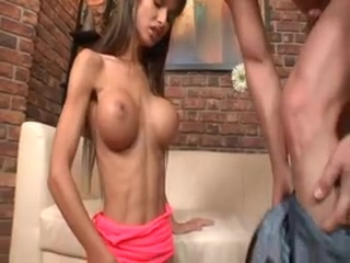Busty Slim Schoolgirl Nessa Devil Gets D...