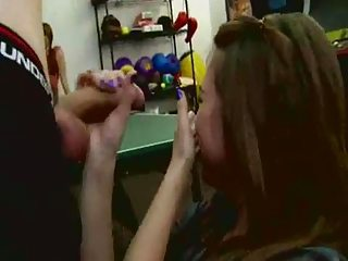 Blowjob While Friends Watch