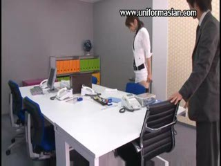 Asian Office Secretary Fuck At one's disposal Meeting R...