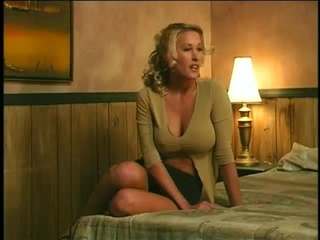 Busty Blond Milf Called A Guy From Sex S...