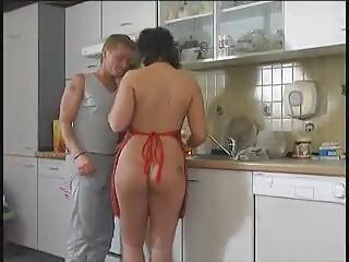 Another Bbw Kitchen-poking