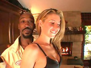 Lisa Marie sucks on a black man.