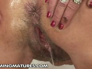 Young cuties fisting old granny