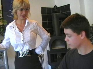 hottest german mummy teaches young