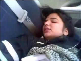 Honeymoon of  Sania In Car