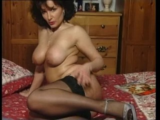 Big Tits Brunette Legs Mature Solo Stockings