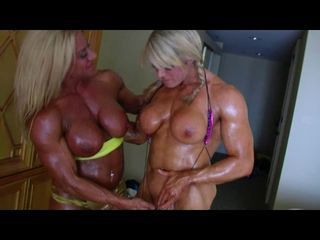Bodybuilders Lisa and Wanda Of a female lesbian Love Part 2