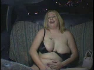 Horny Fat Chubby Party Girl masturbating in Taxi Cab, P3